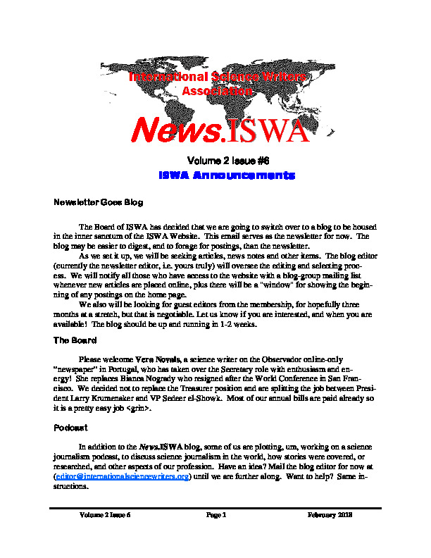 News.ISWA Issue #6